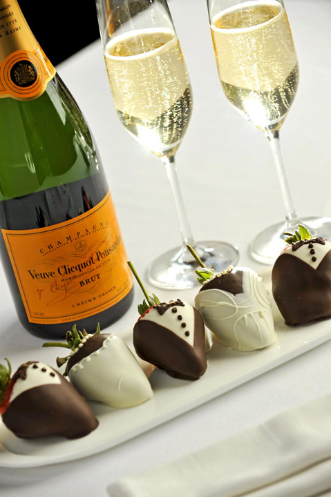 Champagne and Chocolate Strawberries